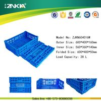 New Design Folding Plastic Crate for Storage Fruits and Vegetables