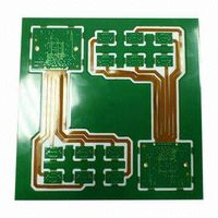 Rigid-flex PCBs,8-layer Half PTH and NPTH Slot on Exposed Flexible Board.