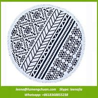 design round beach towel from china manufacture