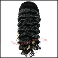 100% human hair full lace wig deep body wave