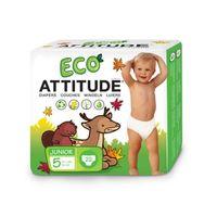 Attitude Eco-Friendly Diapers Size 5 (12+kg) 22 wipes thumbnail image