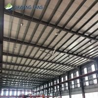 Dawang fans Big air ventilation hvls industrial ceiling fan with light thumbnail image