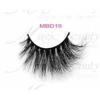 Handmade Siberian 3D Mink Lashes with Private Label MBD19