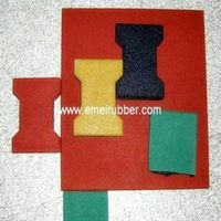 rubber flooring tile for driveway with EN1177