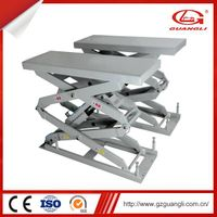 Guangli Newly-design Hide Installation 380V Platform Hydraulic Synchronization Scissor Car Lift