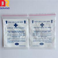 LDPE plastic pharmacy ziplock bag/medical pe zipper bag