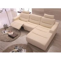 Leather sofa in L shape with armrest living room coner sofa