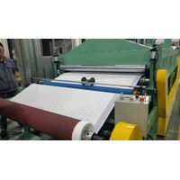 fabric velvet to sandpaper lamination machine coated abrasive hooking looping machine