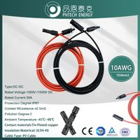 10awg 6mm2 20ft PV Extension Cable Compatible With Solar Panel Battery Charge Kit thumbnail image