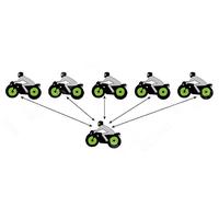 V6 1200M Motorcycle Bluetooth Helmet Intercom thumbnail image