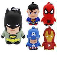 PVC mold can be customized for various cartoon people USB flash memory, Superman, Iron Man, Batman