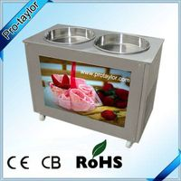 Thailand Style Roll Fry Ice Cream Machine with Double Pans (ICM-980) thumbnail image