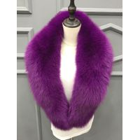 Fur Collar made by genuine fox fur -Blue /silver Fox
