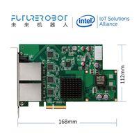 4CH PCIe 4-Port Gige Vision 802.3at Poe+ Frame Grabber Card Image Capture Card 30W Power Supply Each