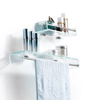 2015 Beautiful decor furniture wall mounted bathroom glass shelf