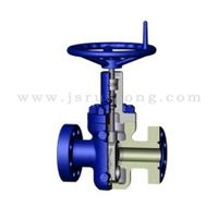 Expanding gate valve