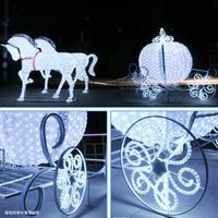 LED Carriage with Horses Christmas Decoration Lights thumbnail image