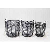 Best selling poly rattan storage basket-CH3982B-3BL thumbnail image