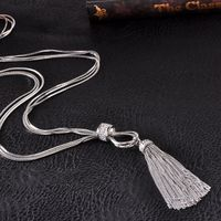 Flexible Fashion Tassel Necklace For women