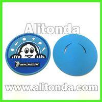 Soft pvc cartoon round anti-slip tea cup coaster custom and supply