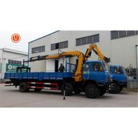Top quality 8 ton knuckle boom truck mounted crane