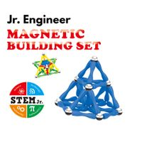 124 PC Magnetic Building Set - Magnetic Brain Training Set for Kids and Adults, PP, colorful