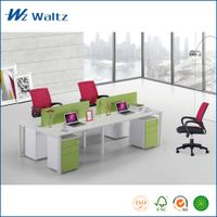 Four people aluminum partition office cubicle workstation