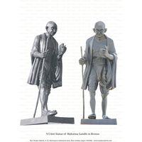 9.5 Feet Bronze Statue of Mahatma Gandhi