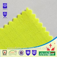 CVC75/24/1 flame retardant antistatic hi-vis yellow twill fabric