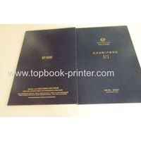 Print gold stamped hard cover tri-fold booklet on demands