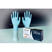 New Hot disposable white and blue powder free nitrile gloves