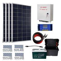 ECO-WORTHY 400W off Grid Solar Kit: 4pcs 100W Solar Panels & Combiner Box & 60A Solar Controller &10 thumbnail image
