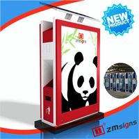 ZM-TB01 Street Advertising Trash Bin Lightbox