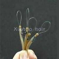 100% human hair single strands,micro ring