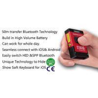 1D/2D Bluetooth Barcode Scanner, wireless for iOS,Android and PC