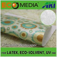 AKI 030 Silk Texture Non-Woven Printable Wallpaper Material