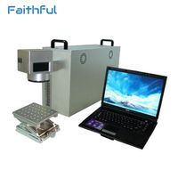 Bottle ring portable good quality fiber laser marking machine with a PC