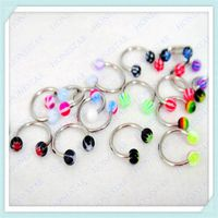 BCR colored acrylic eyebrow rings piercing jewelry