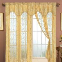 Embroidered Curtain Lace Fabric Sheer Embroidered Curtain Panel thumbnail image