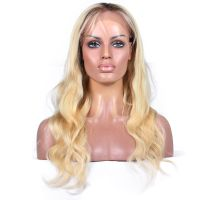 blonde curly human hair wigs 613 loose wave blonde full lace wig Brazilian hair wigs for white women