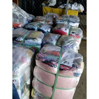 used clothes in 100 lb packages.