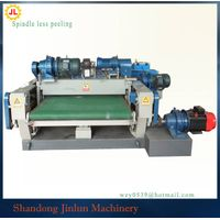 plywood core veneer rotary peeling machine, wood veneer peeling plant