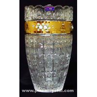 Bohemia Crystal Gold PK Traditional Vase