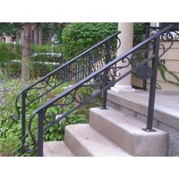 Decorative wrought iron stair railing/handrails for outdoor