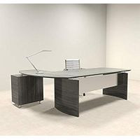2pc Modern Contemporary L Shape Executive Office Desk Set, MT-MED-O4