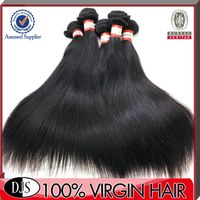 Peruvian hair unprocessed straight human hair extension