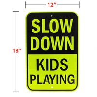 18 inch x 12 inch Please Slow Down Reflective Traffic Road Warning Sign