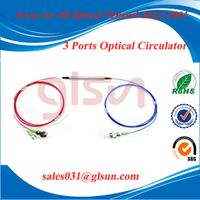 GLSUN 3-port Polarization Insensitive Optical Circulator for communication systems and fiber-optical