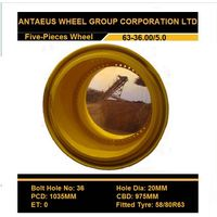OTR Wheel, Earthmover Wheel Rim (51-22.00/3.0; 57-27.00/6.0; 63-36.00/5.0)