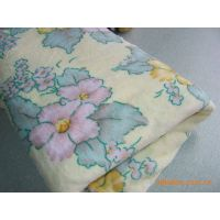 bright colors flower printed coral fleece blanket thumbnail image